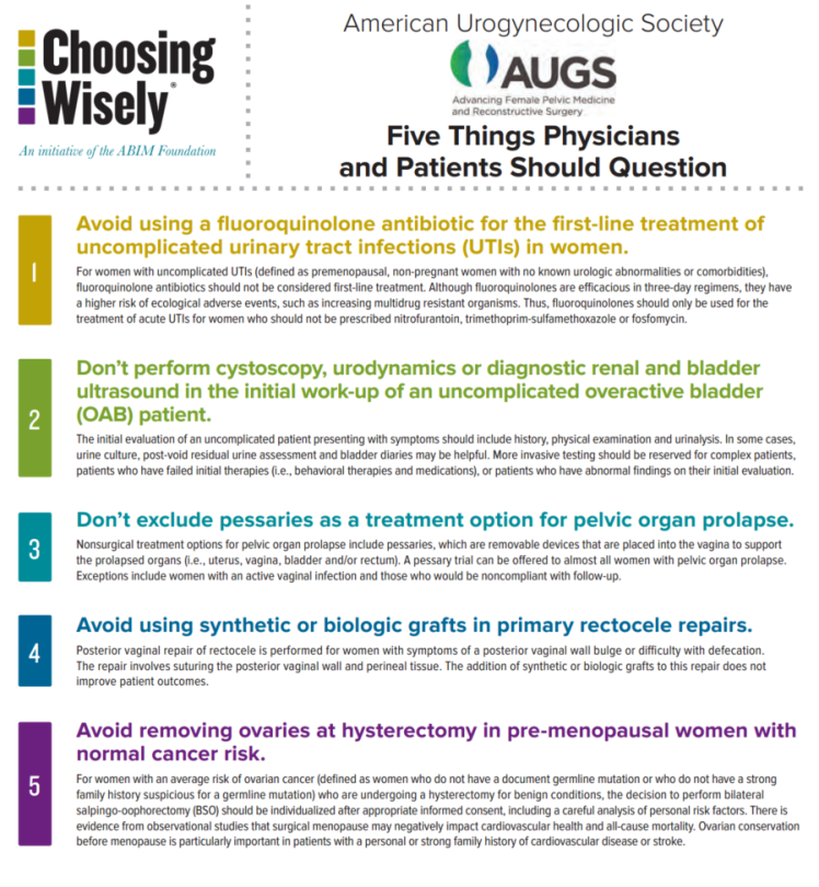 AUGS - Choosing wisely 1